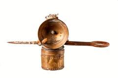 古色古香的闪亮指示开采 免版税图库摄影