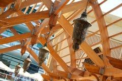 古色古香的阿拉伯枝形吊灯 免版税图库摄影