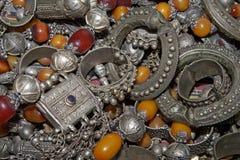 古色古香的阿拉伯流浪的消耗大的juwellery 库存图片