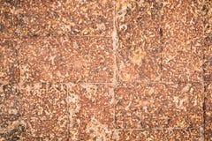古色古香的难看的东西橙色砖纹理 免版税库存图片