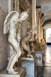 古色古香的雕象在Capitoline博物馆在罗马 免版税库存图片