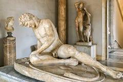 古色古香的雕象在Capitoline博物馆在罗马 免版税库存照片