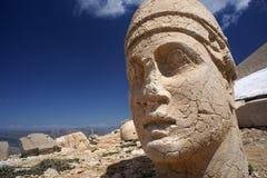 古色古香的雕象头  免版税库存照片