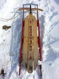 古色古香的雪撬雪 免版税图库摄影