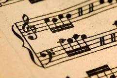 古色古香的音乐纸张 库存照片