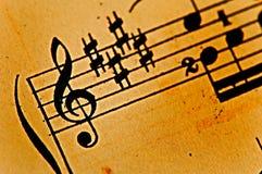 古色古香的音乐纸张 免版税库存照片