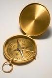 古色古香的黄铜指南针 免版税库存照片