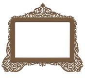 古色古香的黄铜框架葡萄酒 免版税库存图片