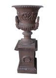 古色古香的黄铜罐立场 图库摄影