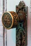 古色古香的黄铜门把手 免版税图库摄影