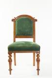 古色古香的19世纪维多利亚女王时代的果树木图书馆椅子 图库摄影