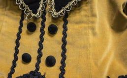 古色古香的维多利亚女王时代的样式礼服细节 免版税库存图片