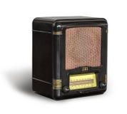 古色古香的黑收音机 免版税库存照片