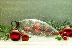 古色古香的水晶圣诞节装饰品 免版税库存图片