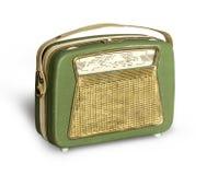 古色古香的绿色收音机 图库摄影