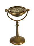 古色古香的黄铜运输指南针和立场II 免版税库存图片