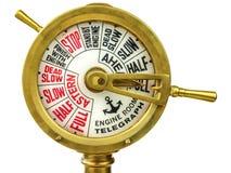 古色古香的19世纪机舱通信机 免版税图库摄影