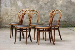 古色古香的Bentwood维也纳椅子 库存图片