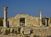 古色古香的chersonese废墟 库存照片