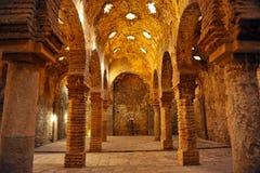 古色古香的hammam,摩尔人浴在朗达,马拉加省,安大路西亚,西班牙 图库摄影