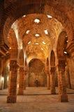 古色古香的hammam,阿拉伯浴在朗达,马拉加省,安大路西亚,西班牙 库存照片