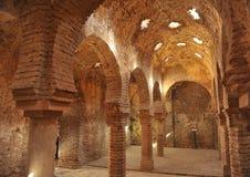 古色古香的hammam,阿拉伯浴在朗达,马拉加省,安大路西亚,西班牙 库存图片