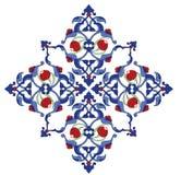 古色古香的illustrat无背长椅瓦片传统土耳& 免版税库存照片