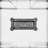 古色古香的letterbox 免版税库存照片
