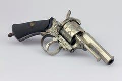 古色古香的pinfire左轮手枪 库存图片
