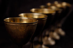 古色古香的stemware葡萄酒 库存图片