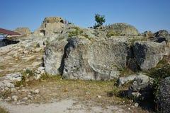 古色古香的Thracian圣所Tatul,保加利亚废墟  库存图片