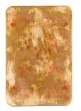 古董使用了心脏纸背景纸牌一点  免版税库存图片