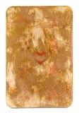 古董使用了心脏纸背景纸牌被隔绝的 免版税图库摄影