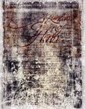古董变色的文件 免版税库存图片