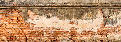 古董和老红砖墙壁纹理 库存照片