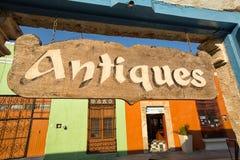 古董店签到坎比其墨西哥 库存图片