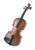 古董查出的小提琴白色 库存照片