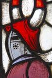 古董污迹玻璃窗 免版税库存图片
