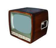 古董电视 免版税库存图片