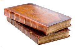 古董登记皮革堆 免版税库存图片