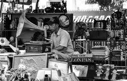 古董的卖主 免版税库存照片