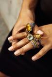 古董被手工造的珠宝土耳其 库存图片