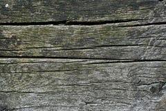 古董被风化的木粱纹理 库存照片