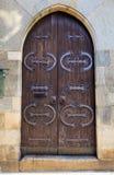 古董装饰了门 免版税库存图片