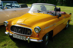 古董车Škoda Felicie 库存照片
