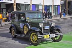 古董车在圣帕特里克` s天游行渥太华,加拿大 免版税库存照片