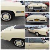 古董车展示纽约1976年卡迪拉克黄金国 免版税图库摄影