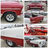 古董车展示纽约1955年薛佛列贝莱尔 免版税库存照片