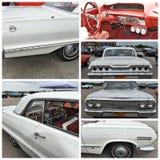 古董车展示纽约1963年雪佛兰因帕拉 免版税库存照片