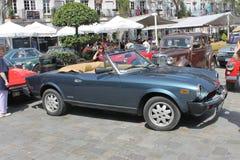 古董车展示,直布罗陀 免版税库存照片